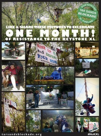 Tar Sands Blockade Marks One Month of Resistance Against Keystone XL | EcoWatch | Scoop.it