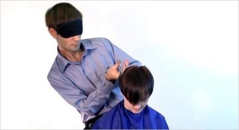 Dangerous Hands – Ukrainian Hairdresser Cuts Hair Blindfolded | Strange days indeed... | Scoop.it