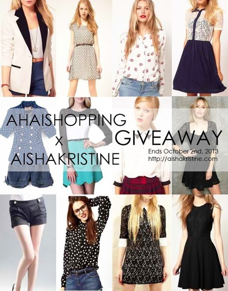 AISHAKRISTINE.COM x AHAISHOPPING WORLDWIDE GIVEAWAY CAMPAIGN for September 2013! [OPEN - JOIN NOW!] | Giveaway Contest | Scoop.it