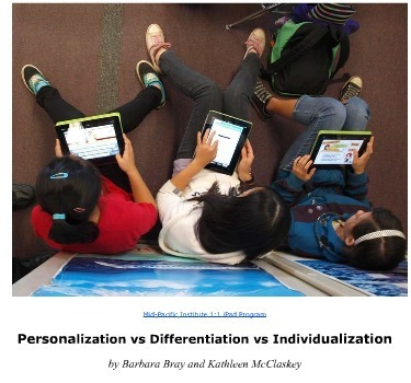 Free Report Explaining the Personalization Chart | Barbara Bray and Kathleen McClaskey | Personalize Learning (#plearnchat) | Scoop.it