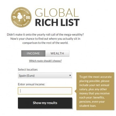 Global Rich List – Para demostrar la mala distribución de riqueza en el mundo #economía | Pedalogica: educación y TIC | Scoop.it