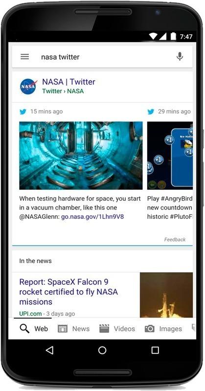 Twitter officiellement intégré à Google mobile - Actualité Abondance | Mobile Development | Scoop.it