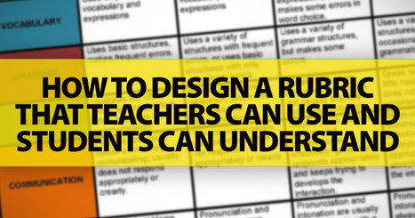 How To Design A Rubric That Teachers Can Use And Students Can Understand | Banco de Aulas | Scoop.it