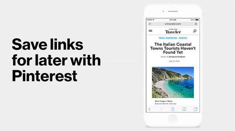 Pinterest's new button makes pinning easier on iPhones | Pinterest | Scoop.it