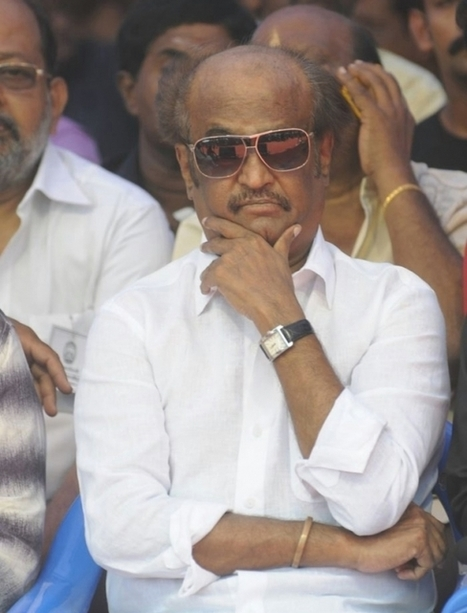 Srilankan Tamil Issue: Rajinikant At Hunger Strike Venue | Bollywood Celebrity News And Events | Scoop.it
