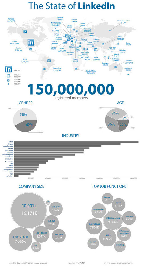 The State of LinkedIn + #Infographic   Social Media (network, technology, blog, community, virtual reality, etc...)   Scoop.it