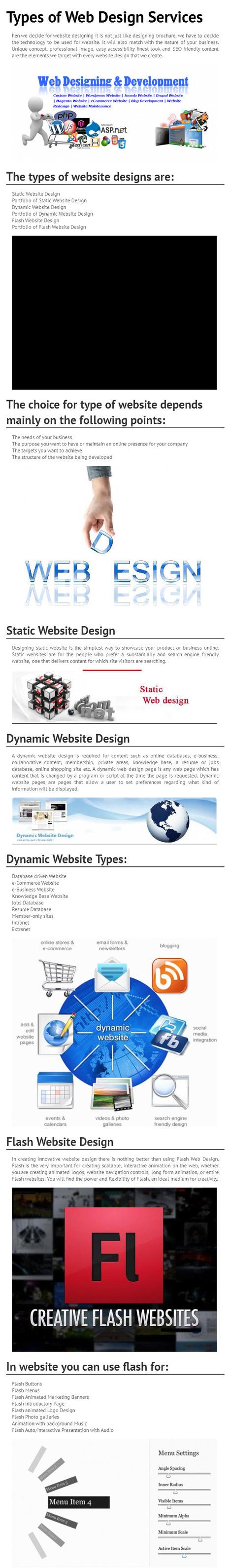 Types of Web Design Services [INFOGRAPH] | webdesigningindia | Scoop.it
