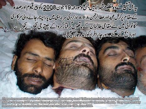 کرم ایجنسی کے شیعہ آبادی کو نسل کشی کا خطرہ | parachinarvoice | Scoop.it