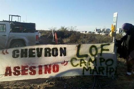Protesta mapuche en Vaca Muerta, a horas del acuerdo entre YPF y Chevron   Protesta mapuche contra Chevron   Scoop.it