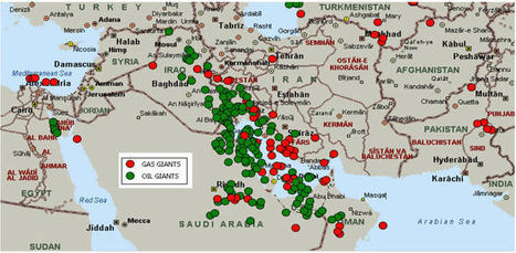 Oil and gas fields in the Middle East - Maps on the Web | Maps | Scoop.it