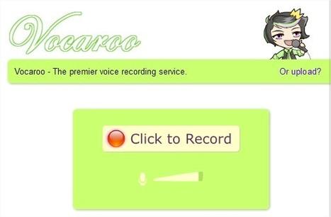 Vocaroo | Enregistrer une production orale directement en ligne. | publication | Scoop.it