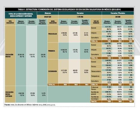 INEE, Informe Radiografía del cuerpo docente (1a Parte) | Educación a Distancia (EaD) | Scoop.it
