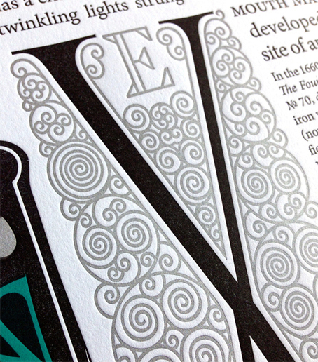 Letterpress typography pays tribute to 400-year-old street | Typography | Creative Bloq | letterpress | Scoop.it