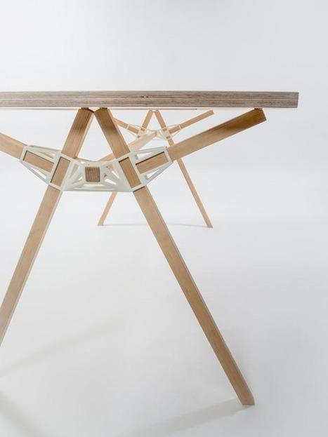 3D-printed wood connectors | 3D_Materials journal | Scoop.it