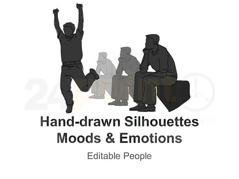 Hand-drawn Silhouettes Moods and Emotions for PowerPoint Presentation | PowerPoint Presentation Tools and Resources | Scoop.it