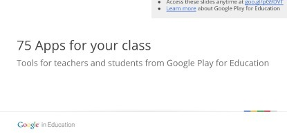 75 Apps for Your Class. Google Play for Education (PUBLIC ON WEB) | Zentrum für multimediales Lehren und Lernen (LLZ) | Scoop.it