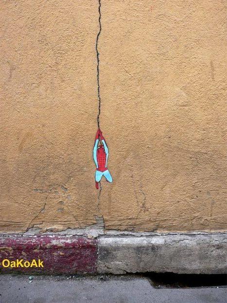 Oak Oak : donner un sens aux failles de la ville #streetart | LA VILLE DANS TOUS SES ÉTATS | Scoop.it
