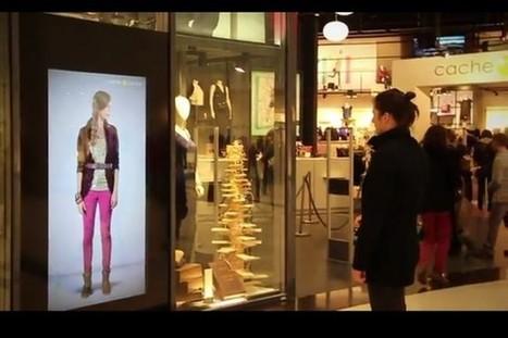 Le numéro 2 du textile français teste le concept de vitrine interactive dans ses magasins   SOCIAL TO STORE (from online community to offline sales)   Scoop.it