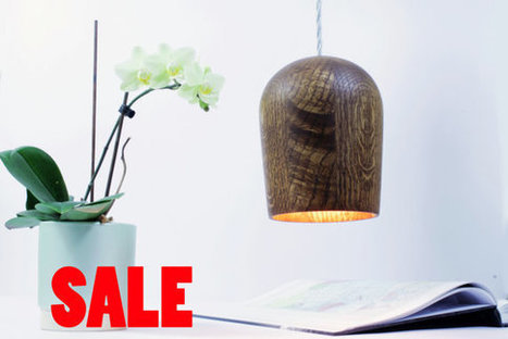 SALE  Minimalist Oak pendant lamp with braided silver silk cable. Solid oak. | English Learning House | Scoop.it
