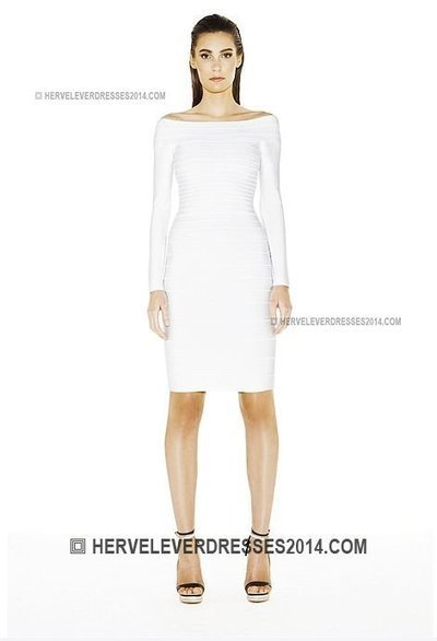 Long Herve Leger Sleeves Candice White Bandage Evening Dresses on Sale [Candice White Bandage Evening Dresses] - $178.00 : Cheap Herve Leger Dresses 2014 with Discount Price | fashion dresses and  jewelry | Scoop.it