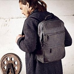 Coated canvas laptop back pack with distressed leather men - $118.60 : Notlie handbags, Original design messenger bags and backpack etc | Best mens style outlet | Scoop.it