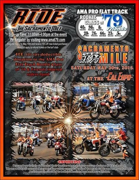 Rookie's Class of '79 is sponsoring a fund raiser ride at the Sacramento Mile.... | California Flat Track Association (CFTA) | Scoop.it