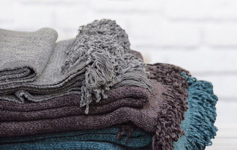 Plaid chenille Ashy - 3 coloris | Le linge de maison Douceur de France | Scoop.it