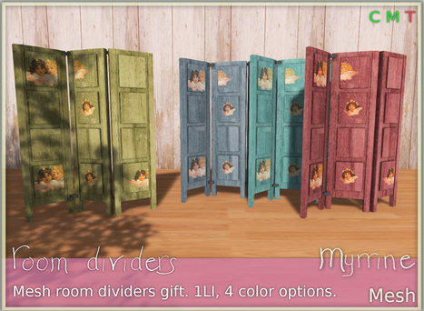 Angels Room Dividers by Myrrine | Teleport Hub - Second Life Freebies | Finding SL Freebies | Scoop.it