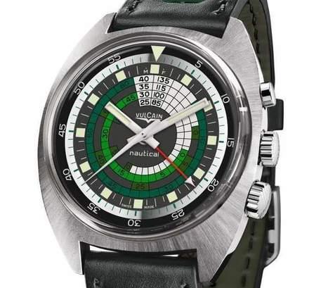 Vulcain Nautical Seventies 2014 : plongeuse vert d'eau | Montre, Horlogerie,Chronos | Scoop.it