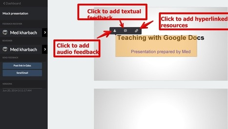 New:You Can Now Add Audio Feedback To Students Presentations on Google Drive ~ Educational Technology and Mobile Learning | GAFE and Learning | Scoop.it