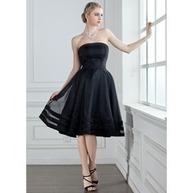 [€ 88.82] Vestidos princesa/ Formato A Sem Alças Joelho de comprimento Organza de Cetim Vestido de madrinha (007001813) | fashion dress | Scoop.it