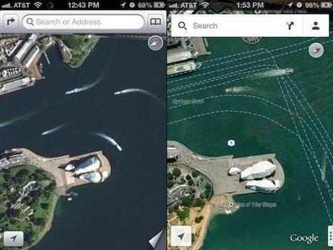 How World Landmarks Look in Apple vs. Google Maps | #GoogleMaps | Scoop.it