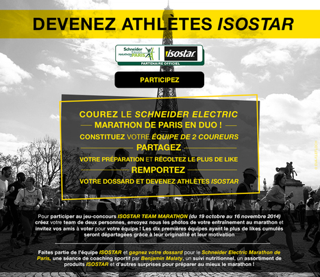 Isostar sponsorise sa communauté pour le Marathon de Paris | Marketing Sportif | Scoop.it
