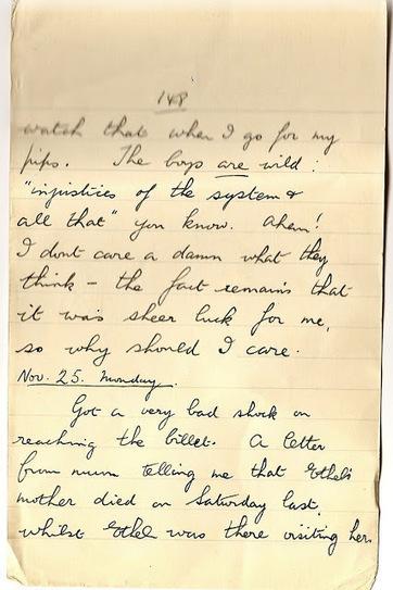 London War Diary: Monday 25th November 1940   London War Diary. Original written pages. 1940   Scoop.it