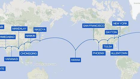 Le tour du monde de Solar Impulse 2 en gif animé   Planete DDurable   Scoop.it