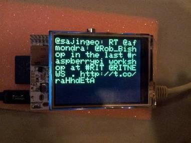 TFTweet: Alamode connects Arduino shield to the Raspberry Pi | Arduino progz | Scoop.it