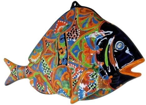 Large Talavera Fish Wall Decor | Mexican Furniture & Decor | Scoop.it