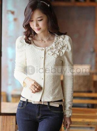 Artistic Slim Bow Knot Jacquard Korean Style Jackets | interest thing | Scoop.it