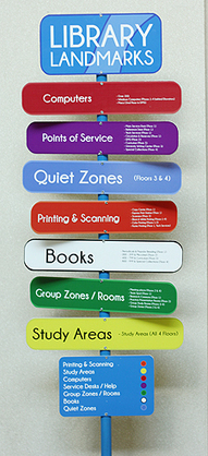 New student-designed, friendly signs point the way at Walker Library | Tennessee Libraries | Scoop.it