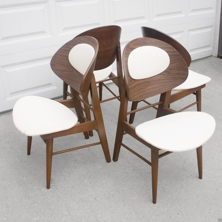 Kodawood Walnut Mid Century Clamshell Dining Chairs | Antiques & Vintage Collectibles | Scoop.it