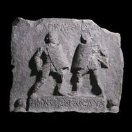 Marble relief with female gladiators   Romanus Gladiatores   Scoop.it