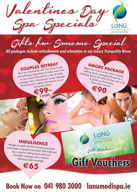 Get Truly Romantic Valentines Day Spa Specials and Gift Vouchers | Luxury Spa, Wellness and Beauty Experience | Scoop.it