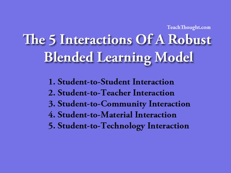 The 5 Interactions Of A Robust Blended Learning Model | Edtech PK-12 | Scoop.it