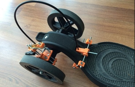 Skateboarder Creates 3D Printed Braking System for Onda Longboard | tecnologia s sustentabilidade | Scoop.it