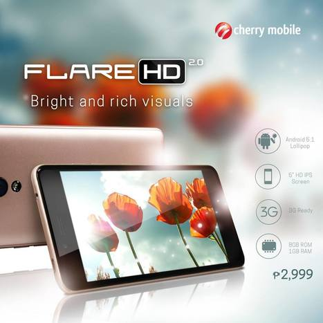 Cherry Mobile Flare HD 2: 5-inch HD Display, Quad-core CPU, only Php2,999 | NoypiGeeks | Philippines' Technology News, Reviews, and How to's | Gadget Reviews | Scoop.it