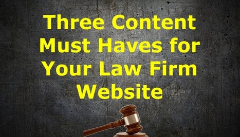 Law Firm Content and Lead Capture Strategy | Web Content Tips from a Web Content Provider | Scoop.it
