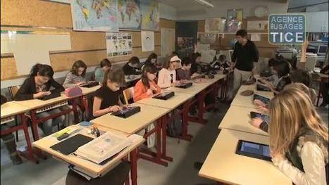 L'Agence nationale des Usages des TICE - Utilisation de tablettes tactiles en primaire | Education et technologies | Scoop.it