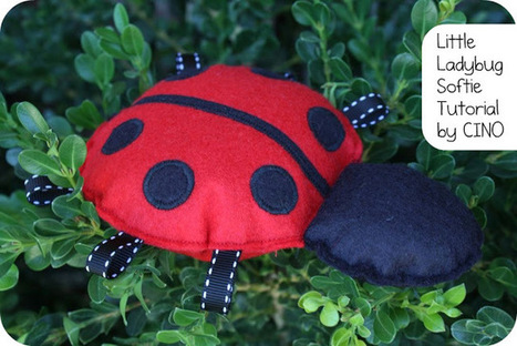 craftiness is not optional: Little Ladybug Softie tutorial | Easy Sewing Projects for Kids | Scoop.it