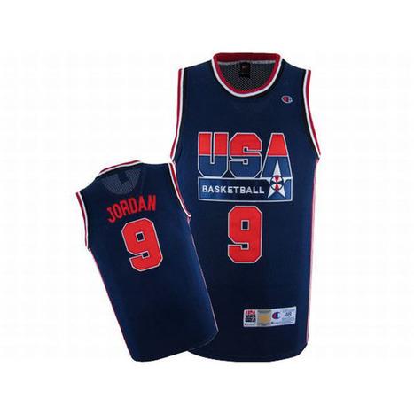Michael Jordan #9 Blue USA Basketball Nike Jersey Red Numbers | share list | Scoop.it
