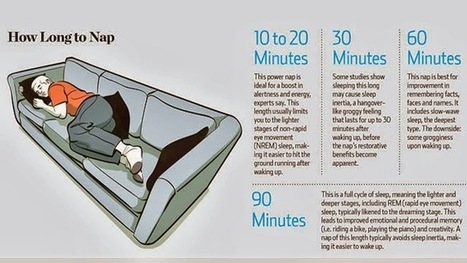 How Long To Nap For The Best Benefits - | Ken's Odds & Ends | Scoop.it